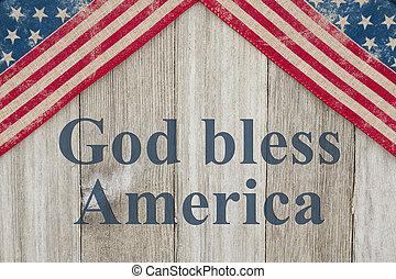 patriótico, mensaje, américa