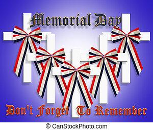 patriótico, monumento conmemorativo, gráfico, día, 3d