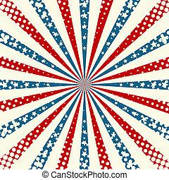 patriótico, norteamericano, día, plano de fondo, independencia