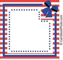 patriótico, plano de fondo, para, cuarto julio