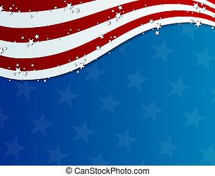 patriótico, quarto julho, fundo