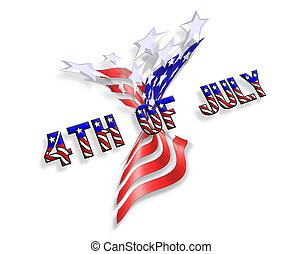 patriótico, rayas, estrellas, icono