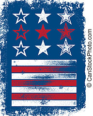 patriótico, vector, elementos
