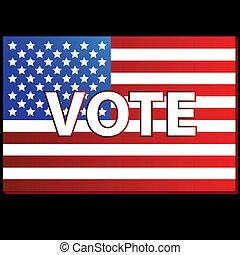 patriótico, votación, cartel