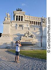 patria, italia, roma, altare, della