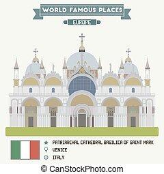 patriarcal, basílica, italia, venecia, mark., santo,...