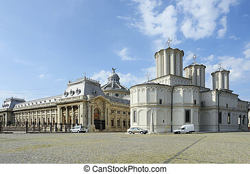 Patriarchy Palace in Bucharest, a city located in Romania
