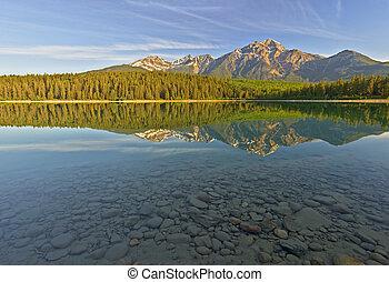 patricia, lago, jasper parco nazionale, canada
