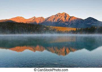 Patricia Lake and Pyramid Mountain, Canada