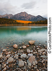 Patricia Lake and Pyramid Mountain, Jasper National Park, ...