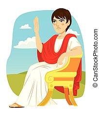 patrician, ローマ人, 椅子, 贅沢, モデル