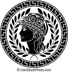 patrician, 型板, 黒, 女性