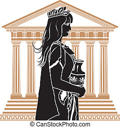 patrician, 女, 寺院, romane