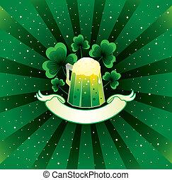 patrick, cerveza, plano de fondo