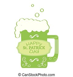 Patrick day beer with a label