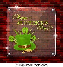 Patrick day glass banner