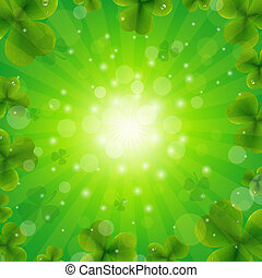 Patrick Day Green Background