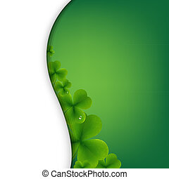 Patrick Day Green Wallpaper With Gradient Mesh, Vector Illustration