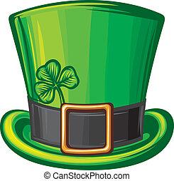 patrick de st, sombrero verde