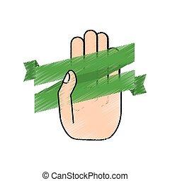 patrick, hand, lint, vasthouden, st, tekening, dag