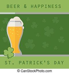 Patricks beer background