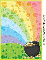 patricks card - illustration of a patricks card