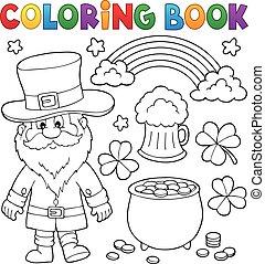 patricks, colorido, conjunto, día, 1, c/, libro