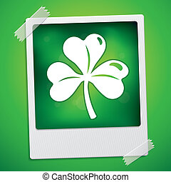 Patrick's day card - vector illustration with clover leaf