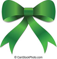 patricks, st, verde, illustrazione, arco