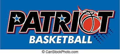 patriot basketball team design with ball and stars for ...