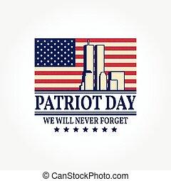 patriot, dag, årgång, design.