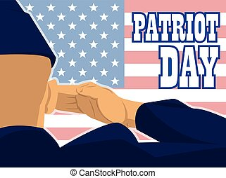 Patriot day card with the flag of u