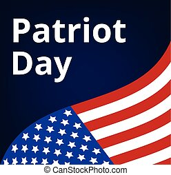 Patriot Day poster with USA flag and text