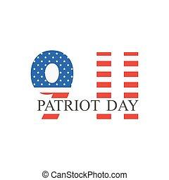 Patriot Day, september 11. Vector illustration.