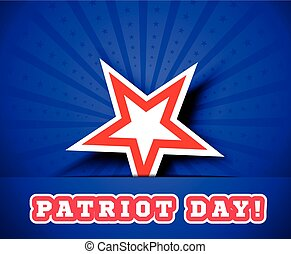 Patriot Day, September 11 waving flag.