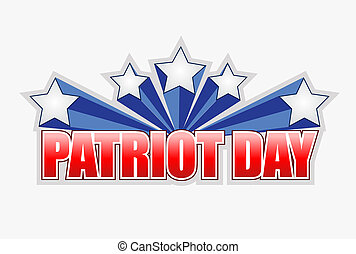 patriot day sign illustration design graphic