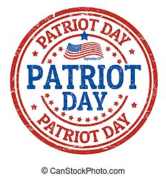 Patriot Day sign or stamp