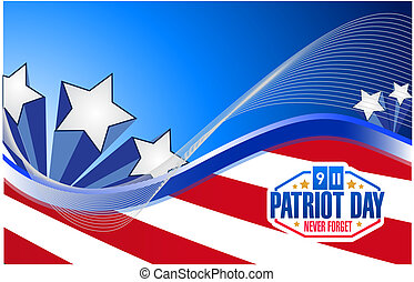 patriot day us flag graphics background