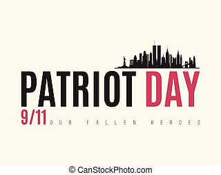 Patriot Day vector design template. USA remembrance day banner.