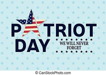 Patriot Day vintage design.