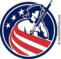 patriot-stars-stripes-flag-USA-CIRC - Mascot icon...