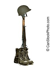 Patriot - Image of boots helmet and rifle
