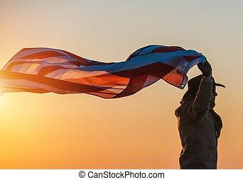 patriota, bandeira, boiadeiro