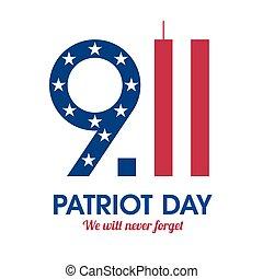 patriota, dia, cartaz