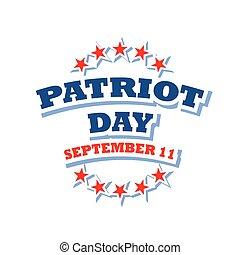 patriota, dia, eua, logotipo