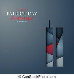 patriote, centre, résumé, commercer, vecteur, mondiale, silhouette., bannière, jour