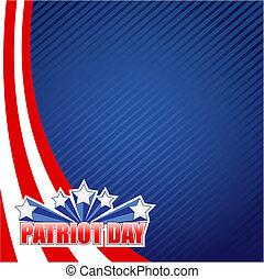 patriote, conception, jour, illustration, signe