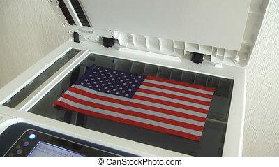 patriote, sien, drapeau, copie, country's