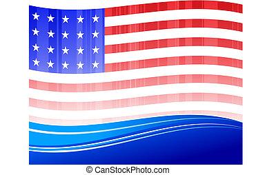 Patriotic American Flag background