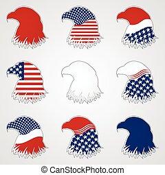 Patriotic American Symbol for Holiday. Eagle Symbol